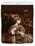 Portrait Of Jane Morris Duvet Cover by John Parsons