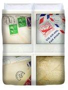 Postal Still Life Duvet Cover