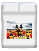 Prague Church Of Our Lady Before Tyn Duvet Cover