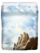 Prayer Duvet Cover by Les Cunliffe