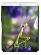 Praying Mantis Duvet Cover