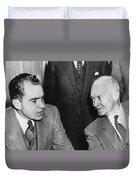 President Eisenhower And Nixon Duvet Cover