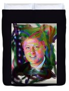 President William J. Clinton Duvet Cover by Official White House Photograph