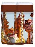 Pretty Carousel Horses Duvet Cover