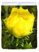 Prickly Pear Cactus Bloom  Duvet Cover
