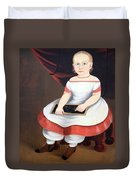 Prior Hamblin School's Little Girl With Slate Duvet Cover