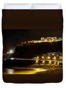Puerto De La Cruz By Night Duvet Cover