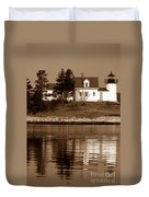 Pumpkin Island Lighthouse Duvet Cover