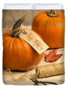 Pumpkins For Thanksgiving Duvet Cover
