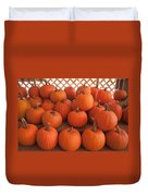 Pumpkins On Pumpkin Patch Duvet Cover