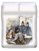 Puritan Tavern Inspection Duvet Cover