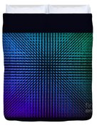 Purple And Green Lamps Duvet Cover