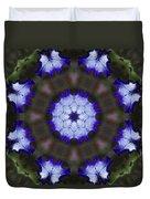 Purple Iris Kaleidoscope Duvet Cover