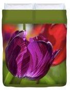 Purple Tulip Macro Duvet Cover