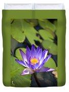 Purple Waterlily Duvet Cover