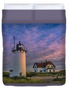 Race Point Lighthouse Sunset Duvet Cover