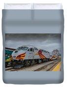 Rail Runner Locomotive Duvet Cover