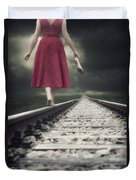 Railway Tracks Duvet Cover by Joana Kruse