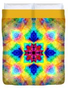Rainbow Light Mandala Duvet Cover