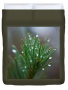 Raindrops On Pine Duvet Cover