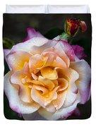 Raindrops On Rose Flower Duvet Cover