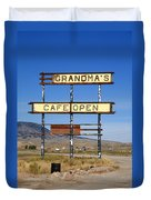 Rawlins Wyoming - Grandma's Cafe Duvet Cover