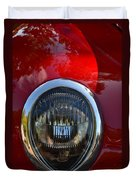 Red Classic Ford Duvet Cover