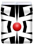 Red Ball 8 Duvet Cover