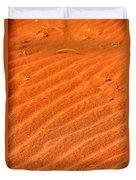 Red Dune Duvet Cover