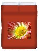 Red Flower Macro Duvet Cover