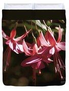 Red Fuchsia Duvet Cover