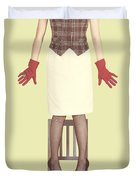 Red Gloves Duvet Cover