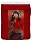 Red Is The Color Of Love Duvet Cover