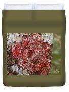 Red Lichen  Duvet Cover