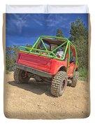 Red Off Road Car  Duvet Cover