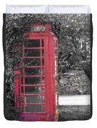 Red Phone Box Duvet Cover
