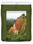 Red Rocks Of Roussillon  Duvet Cover