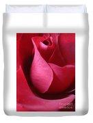 Red Rose Macro 5 Duvet Cover