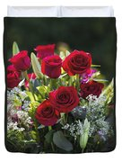 Red Rose Romance Duvet Cover