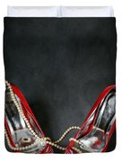 Red Shoes Duvet Cover