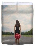 Red Sun Hat Duvet Cover
