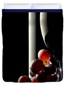 Red Wine With Grapes Duvet Cover by Johan Swanepoel
