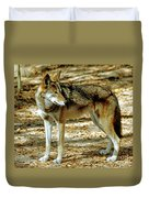 Red Wolf Duvet Cover