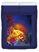 Red Yellow Blossoms 10197 Duvet Cover