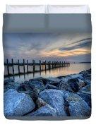 Rehoboth Bay Sunset Duvet Cover