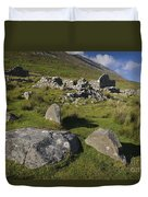 Remains Of Slievemore Village Duvet Cover