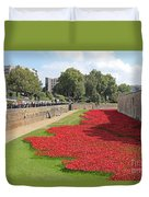 Remembrance Poppies At Tower Of London Duvet Cover