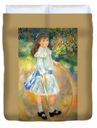 Renoir's Girl With A Hoop Duvet Cover