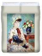 Renoir's Mlle Charlotte Berthier Duvet Cover