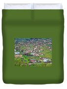 Residents Moved From Homes In Cliffs To Homes Below In 1951 In Cappadocia-turkey Duvet Cover